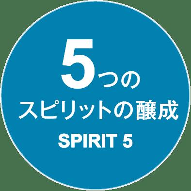 5つのスピリットの醸成